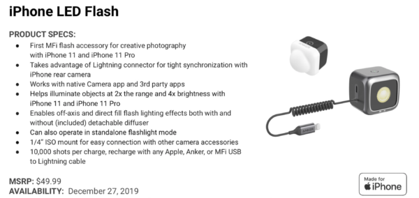 "Anker Revels First Ever ""Made Of iPhone"" Certified LED Flash Lights"