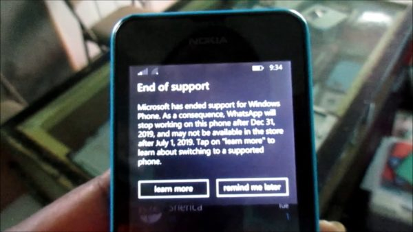 WhatsApp to End Support on Windows Phone