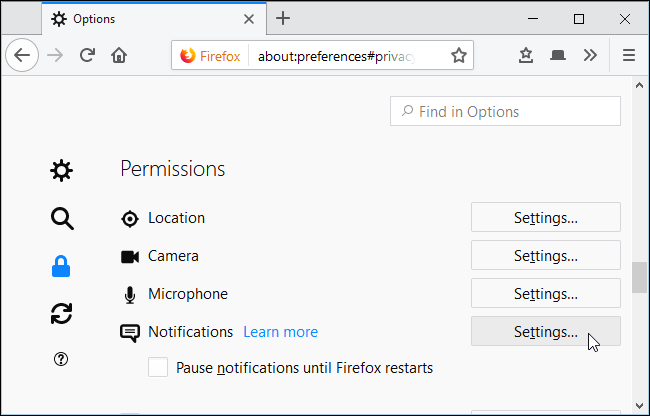 Firefox Puts an Option to Block Annoying Site Notification Requests